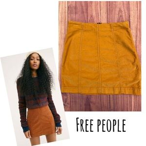 Free People Modern Femme   Mini Skirt yellow